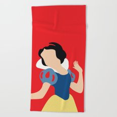 Snow White Beach Towel