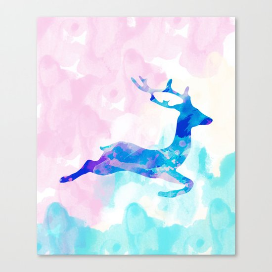 Abstract Deer Canvas Print