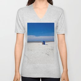 Beach chair at the North Sea Unisex V-Neck