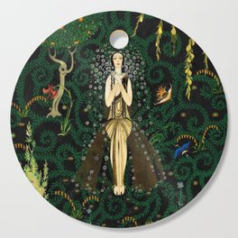1921 Classical Masterpiece 'Flowers and Flames' by Kay Nielsen Cutting Board