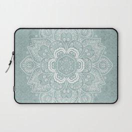 Mandala Temptation in Rustic Sage Color Laptop Sleeve
