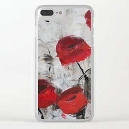 Sloppy Poppy Clear iPhone Case