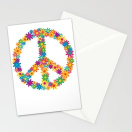 Floral Peace Sign Stationery Cards