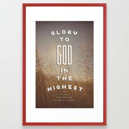 Glory to God in the Highest Framed Art Print