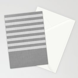 Gray color block and stripes Stationery Cards