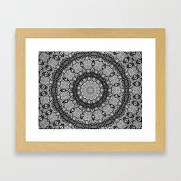 Black and White Lace Mandala A541B Framed Art Print
