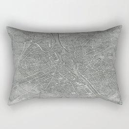Paris Map Plan Antique Old 1739 Vintage Europe Rectangular Pillow