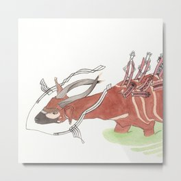Bongo Through the Bog Metal Print
