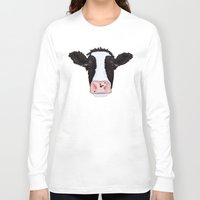 cow Long Sleeve T-shirts featuring Cow by Compassion Collective