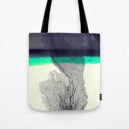 Modern Abstract Sea Coral Reef on Beach Background Tote Bag