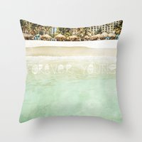 forever young Throw Pillows featuring Forever Young by Jenndalyn
