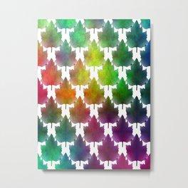Seamless Maple Leaves Metal Print