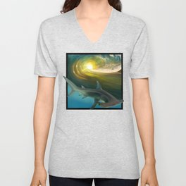 Surfin' Shark Unisex V-Neck