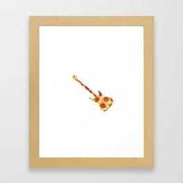 Slap That Pizza Bass Framed Art Print