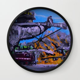 Air Force Fire Fighter Wall Clock