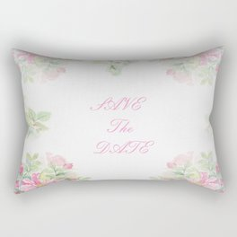 Save The Date  - Garland of roses Watercolor painting Rectangular Pillow