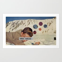 Area Ahead Art Print