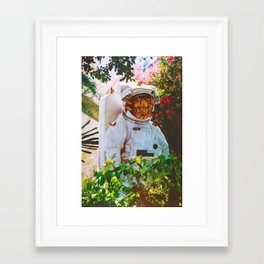 At The Garden Framed Art Print