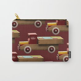 Vintage wooden toy truck #decor #society6 #buyart Carry-All Pouch