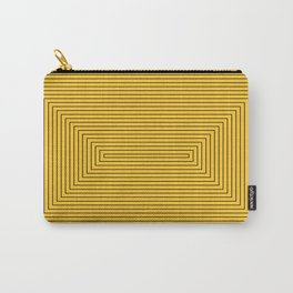Rectangles yellow black Carry-All Pouch