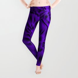 Blurry interweaving of violet spots from the bright flowing lava and colored symmetrical blots. Leggings