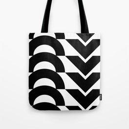 Black Arrows and Circles Graphic Art Tote Bag