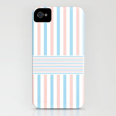 Blue, Pink & White 2 Slim Case iPhone (4, 4s)