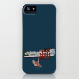 Floating by the Torii Gate iPhone Case