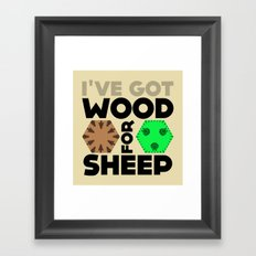 Wood for Sheep (Catan series) Framed Art Print