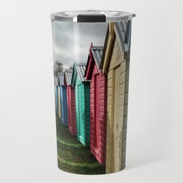 Beach Huts 01A Travel Mug