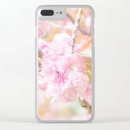 double cherry blossoms in japanese garden Clear iPhone Case