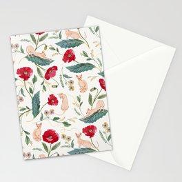 Ramona Poppy off-white Stationery Cards