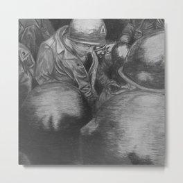 War Time - Charcoal Metal Print