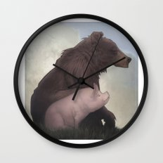 Bear and Pig Wall Clock
