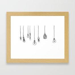 Lightbulbs Framed Art Print