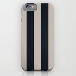 Vertical Stripes Black & Warm Gray iPhone Case