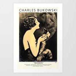 Bukowski - Women Art Print