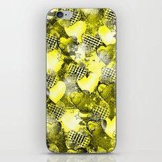 Light Bulb Hearts Series (yellow) iPhone & iPod Skin