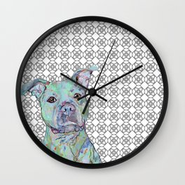 Staffy Portrait Wall Clock