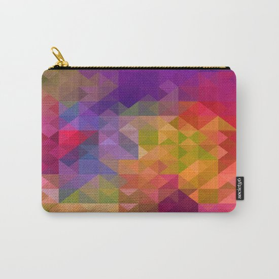 Bright Colorful Geometric Abstract Carry-All Pouch