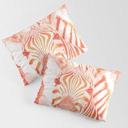 Love and Stripes - zebra orange Pillow Sham