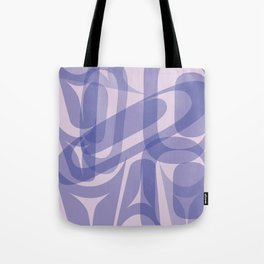 Abstract Formline Purple Tote Bag