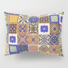 Hand Drawn Floral Patchwork Pillow Sham