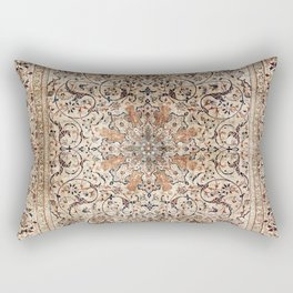 Silk Esfahan Persian Carpet Print Rectangular Pillow