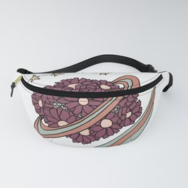 Daisy Planet and Shooting Stars Galaxy Design Fanny Pack
