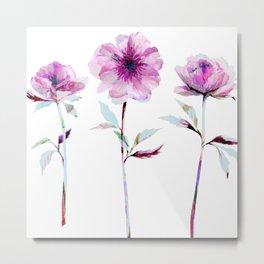 Flower Trio Metal Print