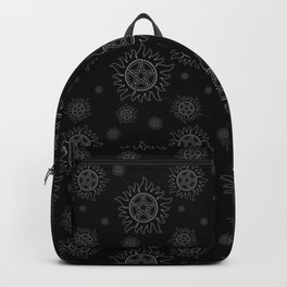 Anti Possession Pattern White Glow Backpack