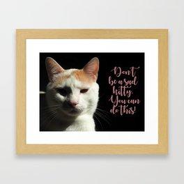 Dramatic Cat Framed Art Print