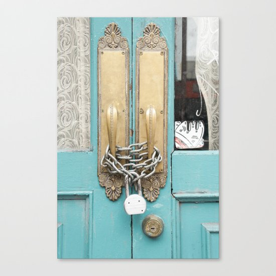 Lock and lace Canvas Print