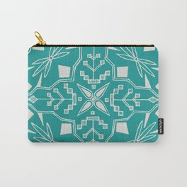 Turquoise Batik Carry-All Pouch